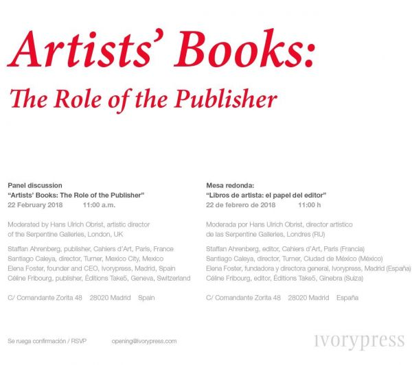 Artists' Books: The Role of the Publisher - VIDEO